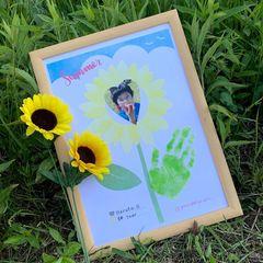 【木更津店で開催!】夏休みに可愛いひまわりをつくろう♡手形・足型アートWS